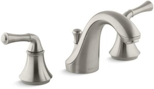 KOHLER Forte® Two Handle Widespread Bathroom Sink Faucet in Vibrant Brushed Nickel K10272-4A-BN