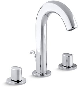 Kohler Oblo® 3-Hole Deckmount Widespread Lavatory Faucet with Double Knob Handle in Polished Chrome K10086-9-CP