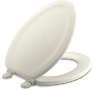 Kohler Stonewood® Elongated Closed Front Toilet Seat With Cover in Biscuit K4647-96