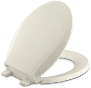 KOHLER Cachet® Round Closed Front Toilet Seat with Cover in Biscuit K4639-96