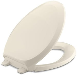 KOHLER French Curve® Quiet-Close™ Elongated Closed Front Toilet Seat with Cover in Almond K4713-47