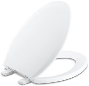 KOHLER Lustra™ Quick-Release™ Elongated Closed Front Toilet Seat With Cover in White K4652-A-0