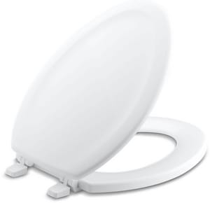 Kohler Stonewood® Molded Wood Elongated Closed Front With Cover Toilet Seat in White K4814-0