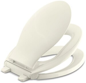 KOHLER Transitions® Quiet-Close™ Elongated Closed Front Toilet Seat in Biscuit K4732-96