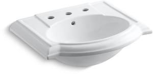 Kohler Devonshire® Pedestal Bathroom Sink in White K2287-8