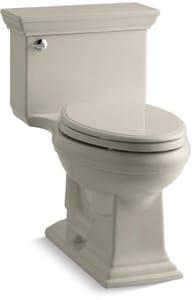 Kohler Memoirs® Stately 1.28 gpf Elongated Toilet in Sandbar with Left-Hand Trip Lever K3813-G9