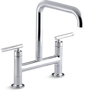 Kohler Purist® Two Handle Bridge Kitchen Faucet K7547-4