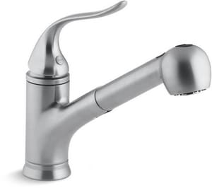 KOHLER Coralais® Single Handle Pull Out Kitchen Faucet in Brushed Chrome K15160-G