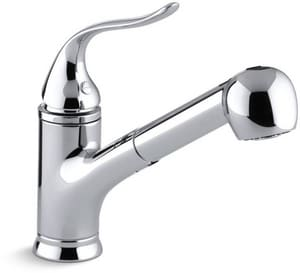 KOHLER Coralais® Single Handle Pull Out Kitchen Faucet with Two-Function Spray in Polished Chrome K15160-CP