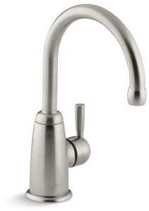Kohler Wellspring® 1.6 gpm 1 Hole Deck Mount Beverage Faucet with Single Lever Handle in Vibrant® Brushed Nickel K6665-BN