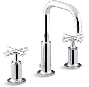 KOHLER Purist® Two Handle Widespread Bathroom Sink Faucet in Polished Chrome K14406-3-CP
