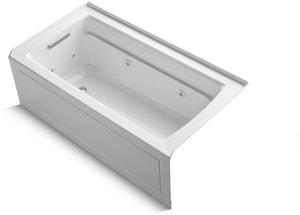 Kohler Archer® 60 x 32 in. Whirlpool with Left-Hand Drain Heat in White K1122-HL-0