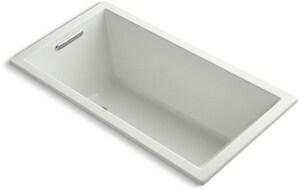 Underscore® 60 x 32 in. Drop-In Bathtub with End Drain in Dune K1130-NY