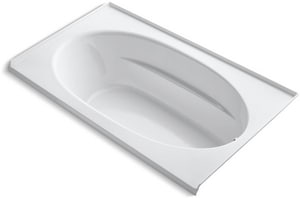 Kohler Windward® 72 x 42 in. 3 Wall Alcove Bathtub with Integral Flange and Right Hand Drain in White K1115-R-0