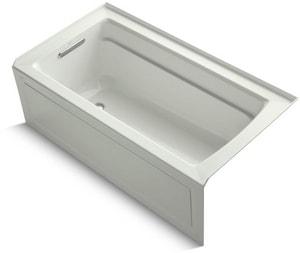 Kohler Archer® 60 x 32 in. Soaker Alcove Bathtub Left Drain in Dune K1123-LA-NY