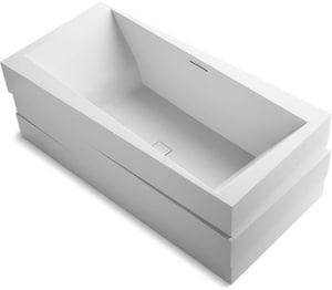 Kohler Askew® 24-9/16 in. Free Standing Bath Tub in Honed White K1801-HW1