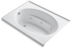 Kohler Windward® 60 x 42 in. Acrylic Drop-In Whirlpool with Left Hand Drain in White K1112-L-0