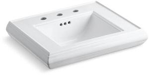 Kohler Memoirs® Pedestal Bathroom Sink in White K2239-8-0
