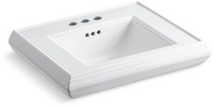Kohler Memoirs® Pedestal Bathroom Sink in White K2239-4-0