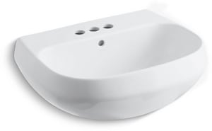 Kohler Wellworth® 3-Hole Pedestal Bathroom Sink Basin with 4 in. Centerset K2296-4
