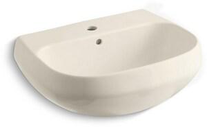 Kohler Wellworth® 1-Hole Lavatory Sink in Almond K2296-1-47