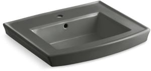 Kohler Archer® Pedestal Vessel in Thunder™ Grey K2358-1-58