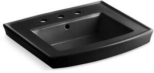Kohler Archer® Pedestal Vessel in Black Black™ K2358-8-7