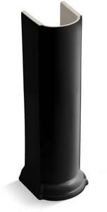 KOHLER Devonshire® Pedestal Sink Base in Black Black™ K2288-7