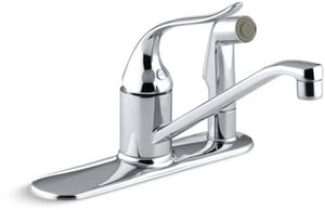 KOHLER Coralais® Single Handle Kitchen Faucet in Polished Chrome KP15173-F-CP