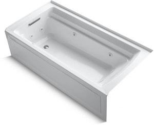 Kohler Archer® 72 x 36 in. Whirlpool Alcove Bathtub with Left Drain in White K1124-LA-0