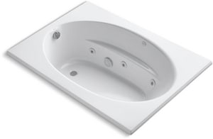 Kohler Windward® 60 x 32-1/2 in. Tub and Shower with Left Hand Drain in White K1112-H-0