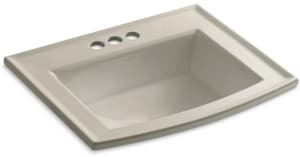 Kohler Archer® Drop-in Bathroom Sink in Sandbar K2356-4-G9