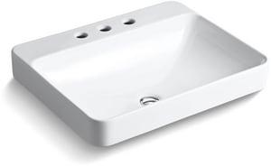 Kohler Vox® Vessel Mount Bathroom Sink in White K2660