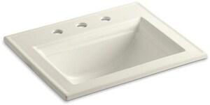 Kohler Memoirs® Stately Drop-in Bathroom Sink in Biscuit K2337-8-96