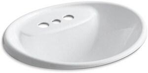 KOHLER Tides® Drop-in Basin in White K2839-4-0