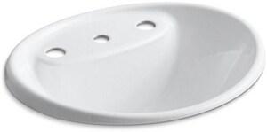 KOHLER Tides® Drop-in Basin in White K2839-8-0