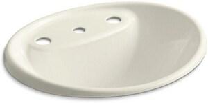 KOHLER Tides® Drop-in Basin in Biscuit K2839-8-96