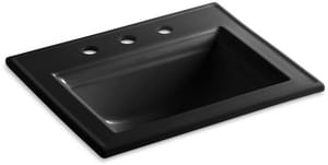 Kohler Memoirs® 1-Bowl Drop-In Lavatory Sink with Centerset Faucet in Black K2337-8-7