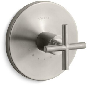 Kohler Purist® Valve Trim with Single Cross Handle for Thermostatic Valve in Vibrant Brushed Nickel KT14488-3-BN