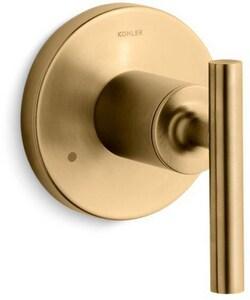 Kohler Purist® Transfer Valve Trim with Single Lever Handle in Vibrant Moderne Brushed Gold KT14491-4-BGD