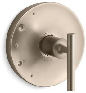 KOHLER Purist® Single Lever Handle Valve Trim Only in Vibrant Brushed Bronze KT14423-4-BV