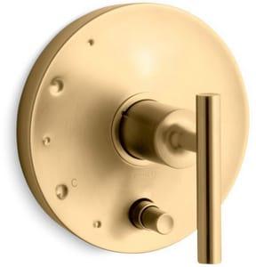 Kohler Purist® Single Handle Bathtub & Shower Faucet in Vibrant® Moderne Brushed Gold (Trim Only) KT14501-4-BGD