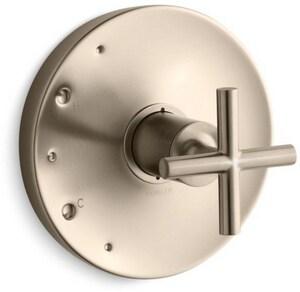KOHLER Purist® Pressure Balancing Valve Trim with Single Cross Handle in Vibrant Brushed Bronze KT14423-3-BV