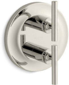 KOHLER Purist® Two Handle Bathtub & Shower Faucet in Vibrant® Polished Nickel (Trim Only) KT14489-4-SN