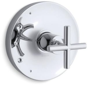 Kohler Purist® Pressure Balancing Valve Trim with Single Cross Handle in Polished Chrome KT14423-3