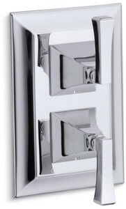 Kohler Memoirs® Stacked Thermostatic Valve Trim Only with Double Lever Handle in Oil Rubbed Bronze KT10422-4V-2BZ