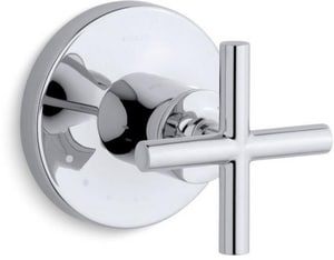Kohler Purist® Volume Control Valve Trim Only with Single Cross Handle in Polished Chrome KT14490-3
