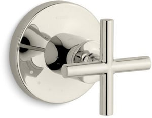 KOHLER Purist® Volume Control Valve Trim Only with Single Cross Handle in Vibrant Polished Nickel KT14490-3-SN
