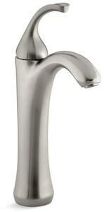 KOHLER Forte® Single Handle Vessel Filler Bathroom Sink Faucet in Vibrant Brushed Nickel K10217-4-BN