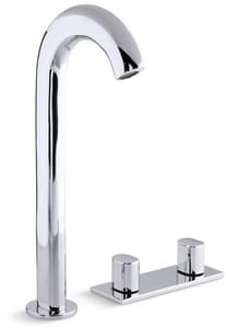 Kohler Oblo® 3-Hole Widespread Bathroom Faucet with Double Knob Handle in Polished Chrome K10094-9-CP